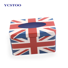 Creative Design Rectangle Printing Metal Packing Tissue Tin Box