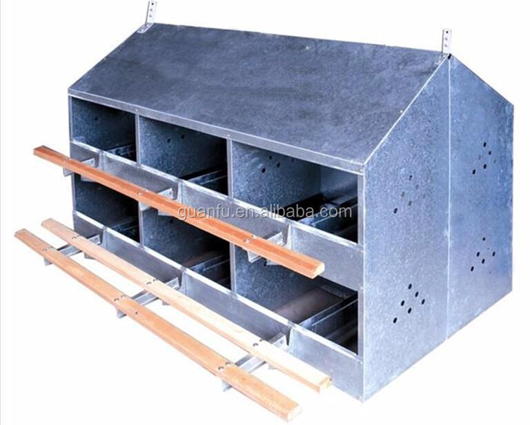 manual hens layer egg nesting box price for sale