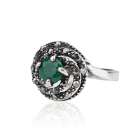 Vintage Bohemia Green Gem Rings For Women Wholesale Jewellery