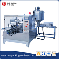 Liquid and paste packing machine unit