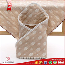 hot China factory top quality 100% organic cotton hooded baby towel with great price