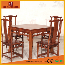 Antique Chinese Style five piece in one set wooden Dining table