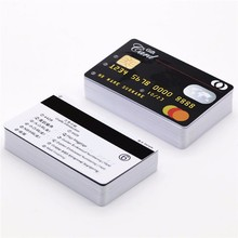 PVC contact SLE4442 Chip Cards with HiCo 2 Track Magnetic strip