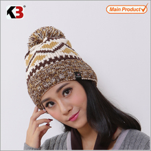2015 Cool beanies for girls fall/100% wool knitted beanie hat/ knitting patterns girls hats