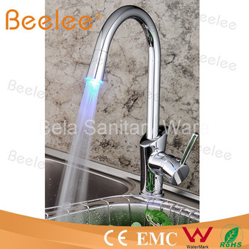 LED Single handle sanitary ware mixer kitchen tap