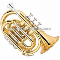 standard model Gold lacquer pocket Trumpet