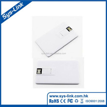 2017 wholesale factory made plastic white promotional credit card usb flash drive