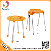 Attractive price new type portable folding foot stool plastic chair