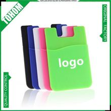 hot selling customized logo printing promotional 3m mobile phone wallet case