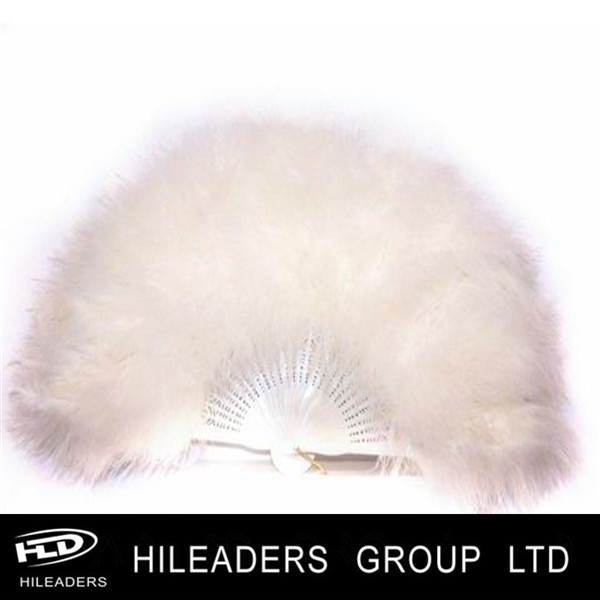 White Color Turkey Feather Fan