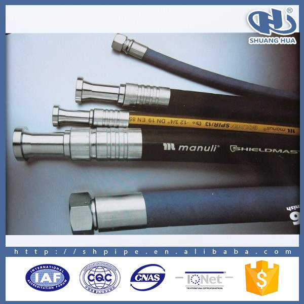 all kinds of manuli hydraulic hose stainless steel wire flexible hose,manuli hydraulic rubber hose