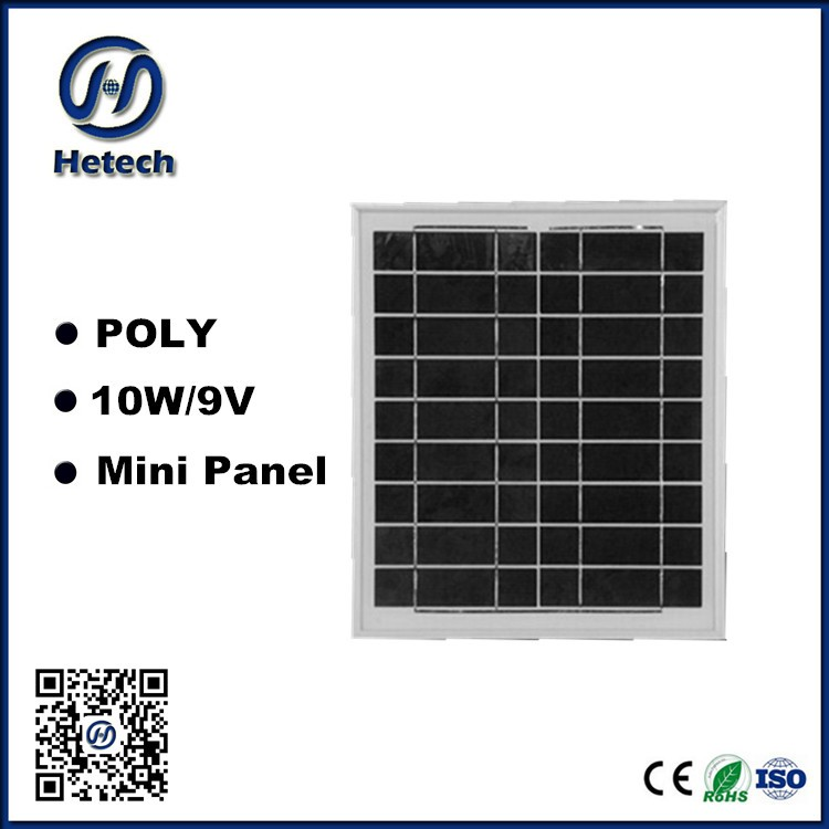 6v 10 watt 9v Small size 10w Solar panel for 3w led lamp