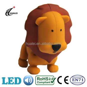 Lion Sound LED Animal Keychain Light Toy