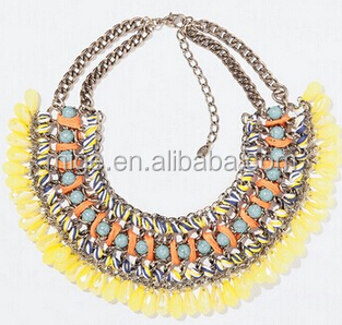 Necklace wholesale european and American fashion turquoise necklace multi-national air droplets gemstone necklace N0119-1