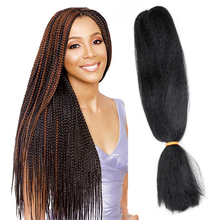 STOCK synthetic braiding hair extension heat resistant/synthetic fiber braidings/ synthetic super jumbo braiding