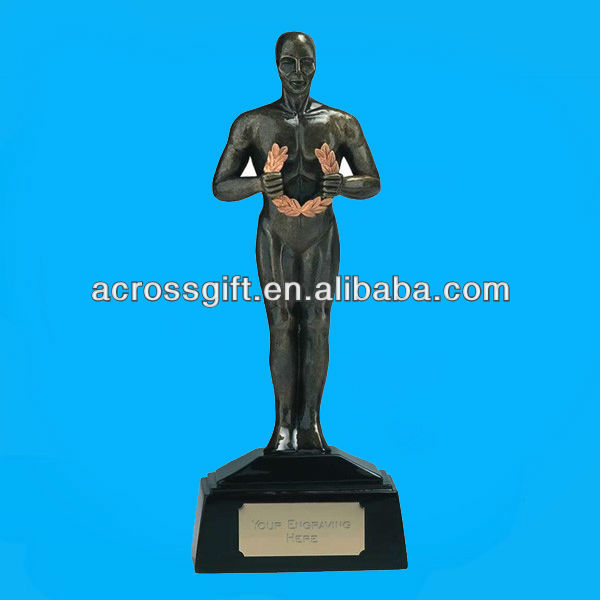 custom resin oscar trophy