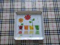 square Melamine tray set