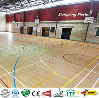 Multi sports indoor volleyball basketball court flooring