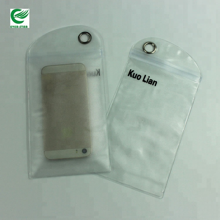 Factory Customized Plastic Ziplock Phone Packaging Frosted PVC Dry Bag