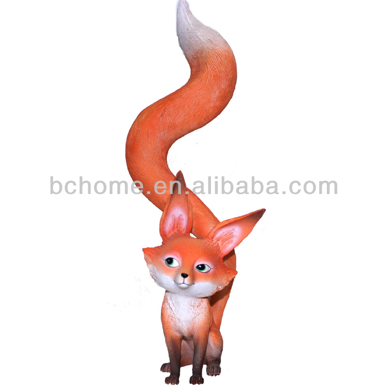 3D Polyresin Fox Figurines Resin Animal Home Decor For Wholesale