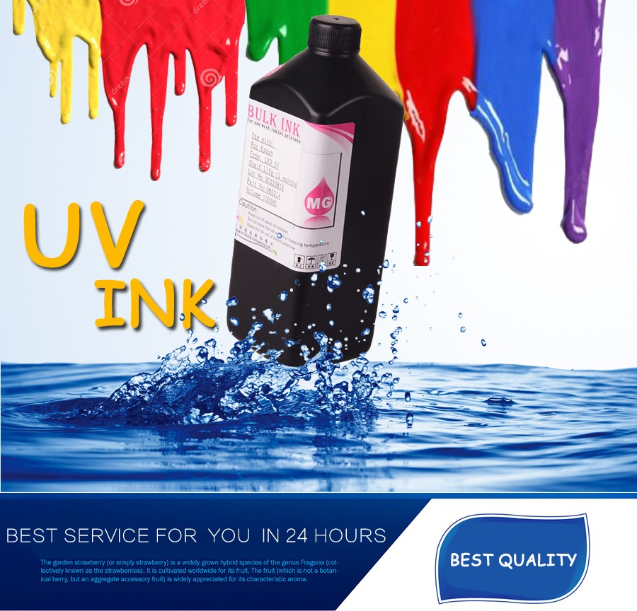 ocbestjet DX5 DX7 LED UV Curable Inkjet Print dx5 uv ink for epson stylus pro 1390 4800 4880