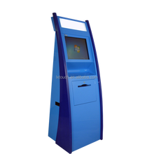 Hot Sale Floor Standing Kiosk Reporting with Barcode Scanner and Card Dispenser
