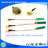 2.4ghz wifi PCB built-in antenna with SMA connector for WIFI bluetooth module