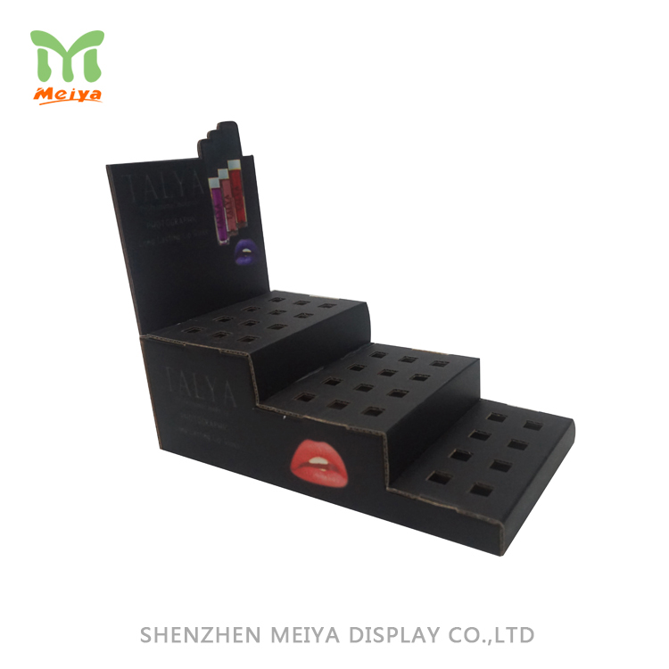Pop Pos Custom Cosmetic Cardboard Counter Display Trays For Lipsticks