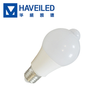 HUAWEILED HS-SGD 7W/off 270 degrees led indoor PIR infrared motion sensor smart bulb bathroom, hallway, porch, stairway light
