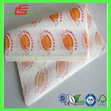 M058 custom logo printed PE coated greaseproof hamburger wrapping paper