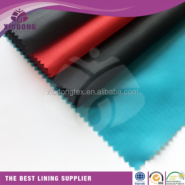 check polyester taffeta dobby lining fabric for garment