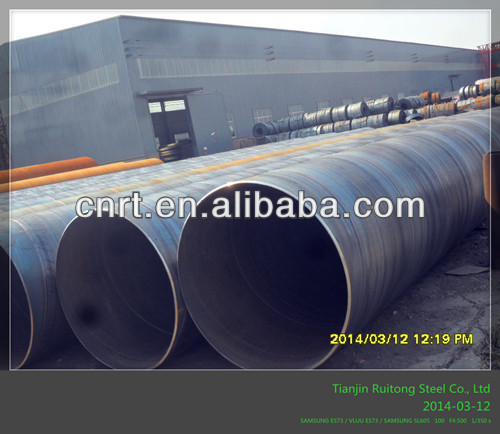 SSAW Spiral Welded Steel Pipe-Q195/Q235/Q345/S235JR/S355JRH/ss400/ASTM A36/ASTM A106A-for Liquid Service