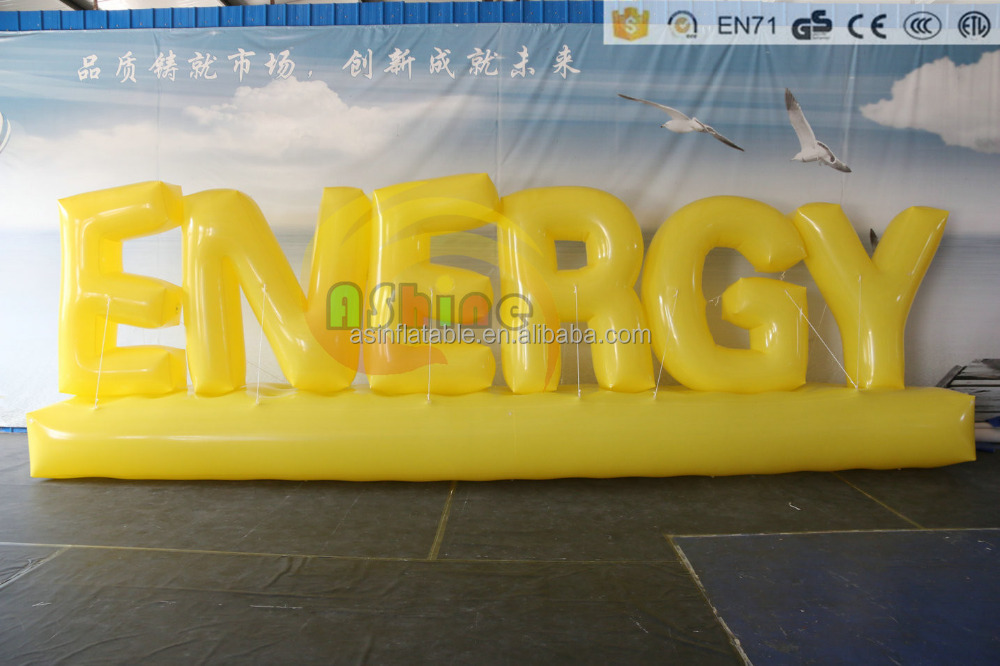 Airtight giant inflatable letters advertising / sample advertising letter