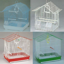 two stage small wire foldable decorative bird cages for birds breeding