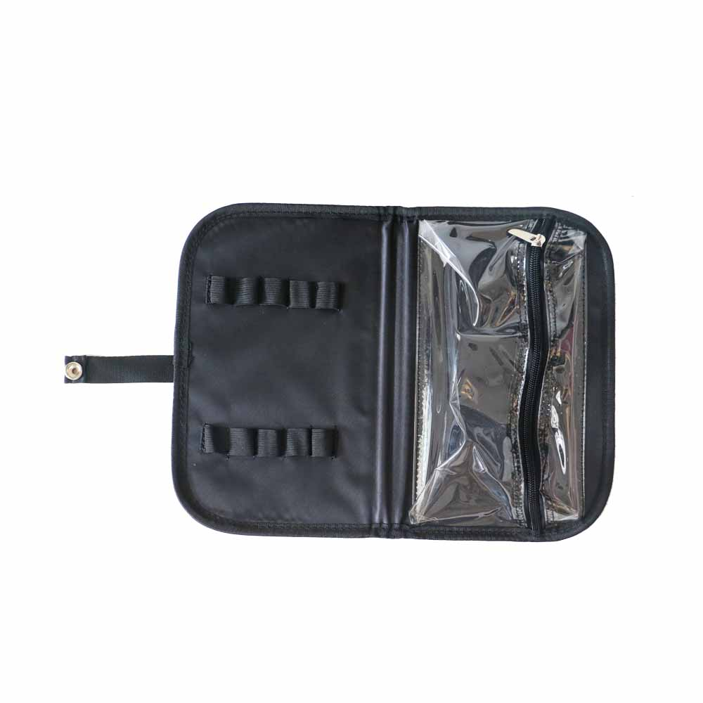 Nylon Professional Cosmetic Case,Nylon Rolling Cosmetic Case with Brush Bag