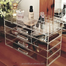 2017 the most popular wholesale Clear 5 drawer Acrylic lucite cube Makeup Organizer