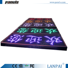 LANPAI mono color P10 outdoor Aluminum frame design led moving message display