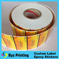aluminum-washed customer stickers, hologram adhesive sticker in rolls with 3D effect, transparent hologram stickers