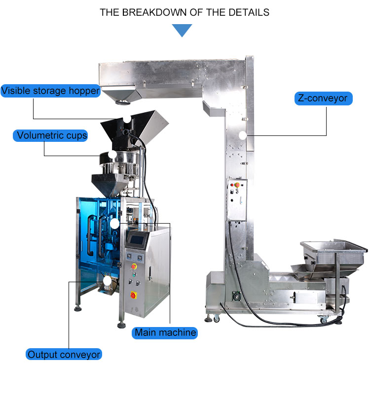 Automatic 250g 500g 1kilo sugar packing machine price