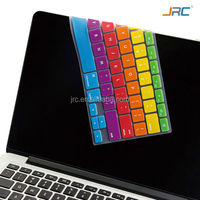 JRC 3th Generation Rainbow Keyboard Cover and Silicone Skin for MacBook