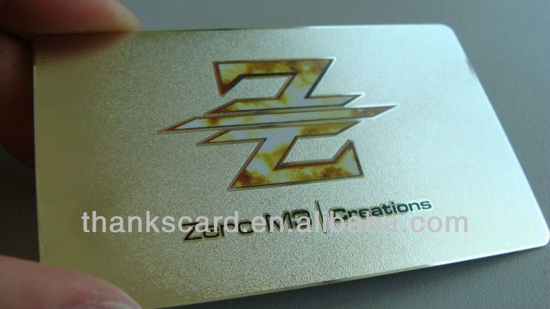 Free Design~~!!! Metal business cards/ print on metal