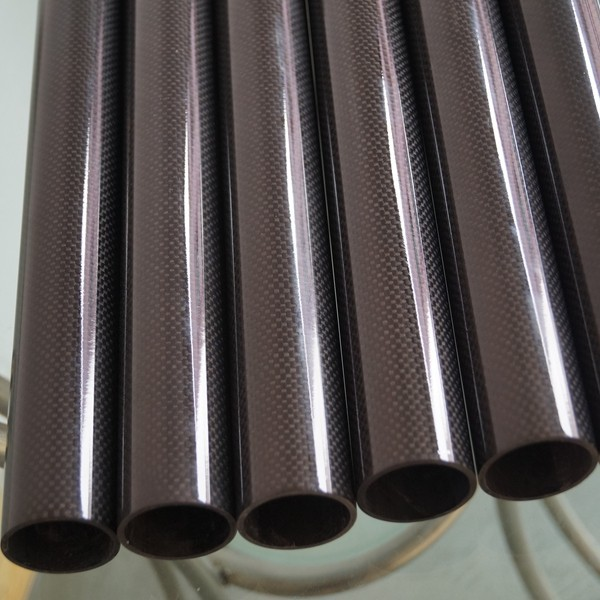 Large Diameter 3K Carbon Fiber Tube With Roll Wrapped