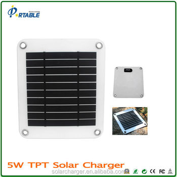 waterproof PET / TPT ultra-thin 5W USB 5V 1a solar panel solar charger for mobiles