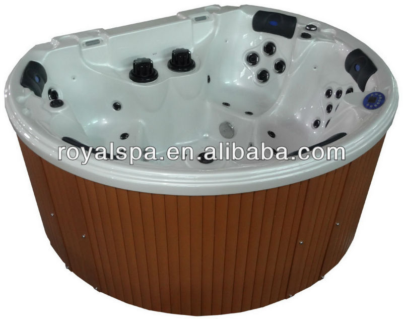 Sanitary ware outdoor spa Hot Tub Massage Spa with overflow China manufacturer