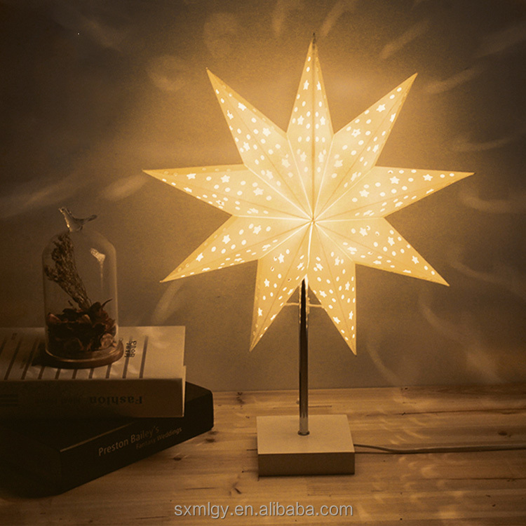 Enneagon Star Paper Table Lamp