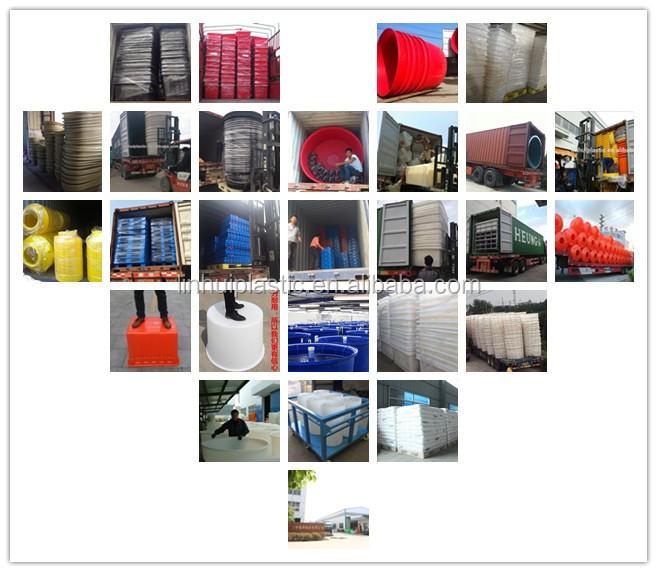 Large stackabel plastic round container