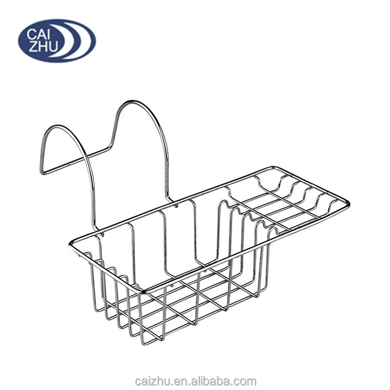 Chrome Tidy Hanging Over Side Bathtub Rack Organizer Caddy Storage Stand