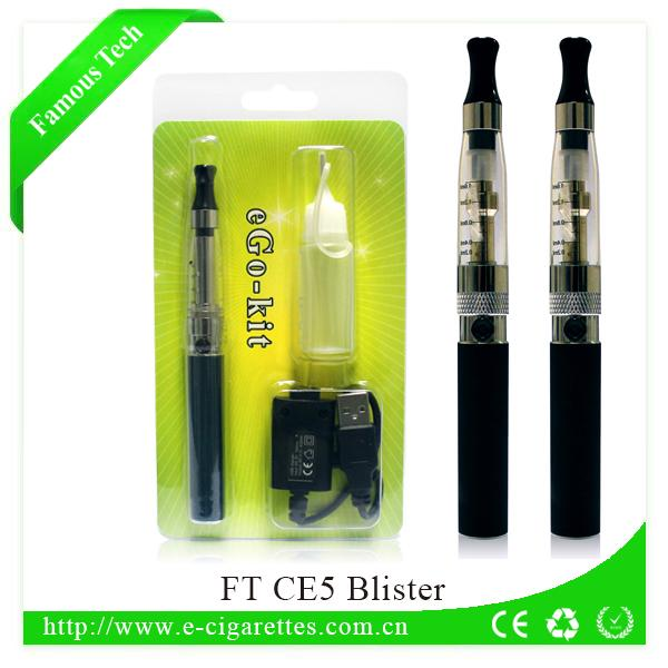 dry herb wick for electronic cigarette for future product ego battery with CE5 clear atomizer blister kit