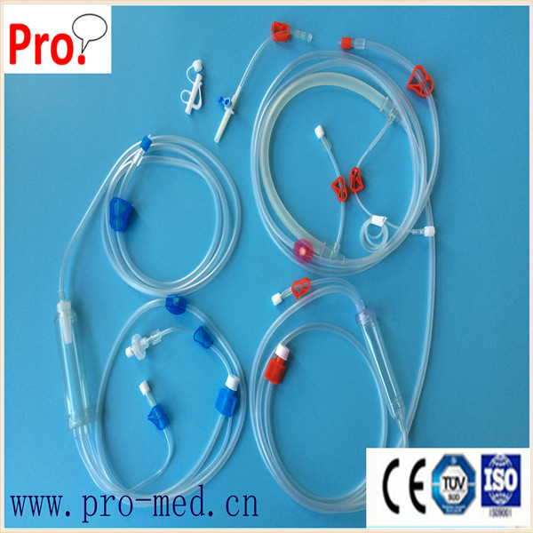 disposable blood tube for hemodialysis dialyzer