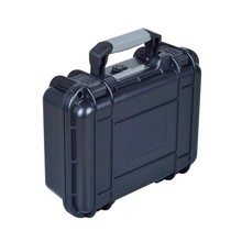Simple to use plastic hard safety equipment case with rubber handle